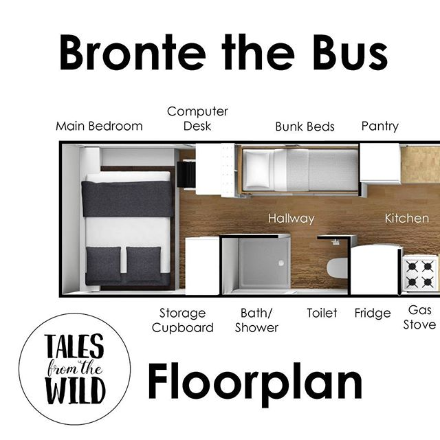We've completed our design of the floor plan in Bronte the bus. It's very much a standard bus conversion layout (there's only so many ways to build a house in a space like this). We have tried to maximise the available space for work, creativity, study and play. There's a computer desk in the main bedroom and a breakfast bar that extends from the kitchen to the front of the bus, creating a long work bench area for all purposes (sitting or standing). The couch in the living area will have toy storage underneath, with the couch cushions removable to create a low table area for playing. A major design constraint were the top hopper windows that open inwards. To keep all windows available for use, we've had to align the floor plan carefully with these openings. We'll have more about the floor plan in our next YouTube video (due soon)! Subscribe now to be notified when the next video is uploaded!  #busconversion #buslife #bus #tinyhouse #skoolie #skoolieconversion #vanlife #offgrid #busbuild #rvlife #busnut #busrollwithit #livesmaller #nomad #happycamper #wander #wanderlust #homeiswhereyouparkit #ontheroad #buslifeaustralia
