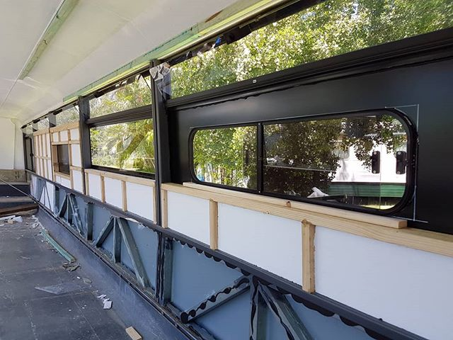 We've installed another sliding window in the bus! Two down, four to go. The insulation and walls are also coming along nicely. We're hoping to have the windows, walls and insulation done within the next two weeks.  #busconversion #buslife #bus #tinyhouse #skoolie #skoolieconversion #vanlife #offgrid #busbuild #rvlife #busnut #busrollwithit #livesmaller #nomad #happycamper #wander #wanderlust #homeiswhereyouparkit #ontheroad #buslifeaustralia