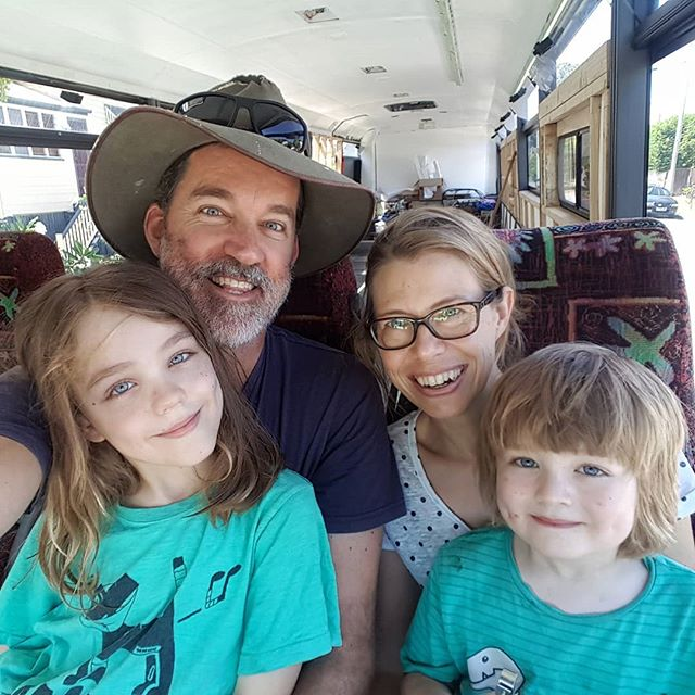An impromptu family portrait in the bus on Christmas eve. We're putting in some big hours on the bus over the Christmas period but are super excited to be on track with our #buslife goals for 2018. I wonder where we'll be in Bronte the bus next Christmas? Merry Christmas everyone! Have a happy and safe festive season.  #busconversion #buslife #bus #tinyhouse #skoolie #skoolieconversion #vanlife #offgrid #busbuild #rvlife #busnut #busrollwithit #livesmaller #nomad #happycamper #wander #wanderlust #homeiswhereyouparkit #ontheroad #buslifeaustralia #buslifeau