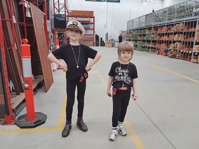 Whistles, check. Walkie talkies, check. Black ninja clothing, check. Captain's hat, check. Well then, I think we're ready. It's off to @bunnings we go again! We spend far too much time (and money) in this place at the moment! It's like our second home. Today's mission was to buy cheap rubber wood benchtops for the kitchen in Bronte the bus. ~ Keiran  #busbuild #busconversion #skoolieconversion #tinyhouse #rvlife #vanlife #buslife
