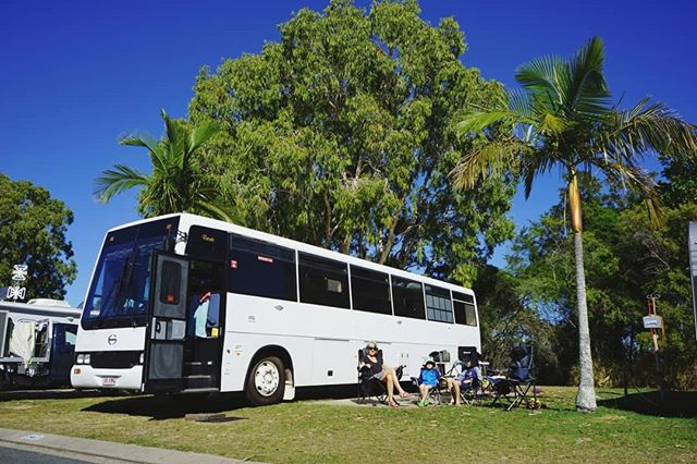 Kicking back in the winter sun with Bronte the bus, the boys and Nana at Boyds Bay Holiday Park. This quiet and relaxed park is only a short drive from so many of our Tweed Coast favourites including Fingal Head lighthouse, Duranbah and Point Danger. We had a wonderful time exploring this part of the coast with @tweedcoastholidayparks.  #destinationtweed #thetweed #tweedcoastholidayparks #tchpmemories #tchpboydsbay #boydsbayholidaypark #tweedheads #ocean #twilight #sea #seeaustralia #travelwithkids #family #buslife #wander #wanderlust #homeiswhereyouparkit #ontheroad #busconversion #skoolie #vanlife